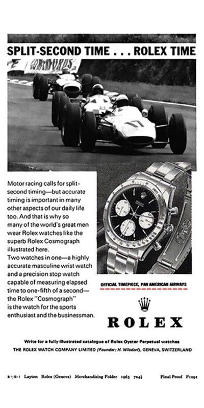 Aviso Rolex 1965