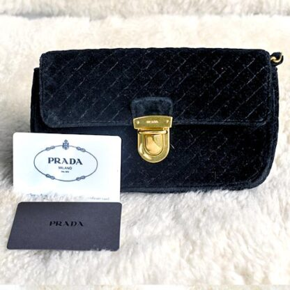 Prada Black Prada Purse Velvet