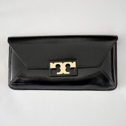 Tory Burch Clutch Charol Negro