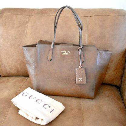 Gucci Swing Tote Leather Medium