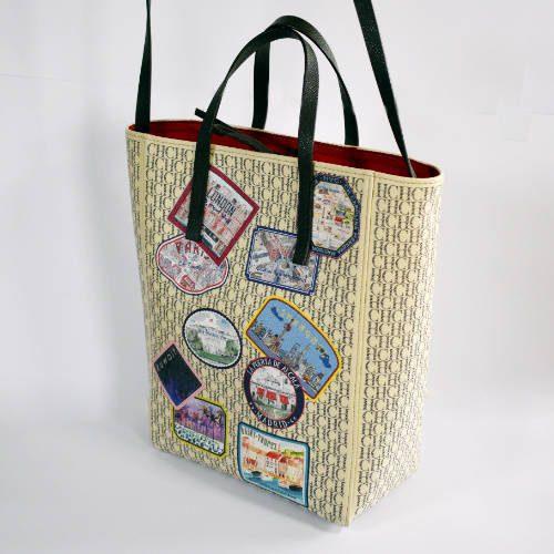 Carolina Herrera Shopping Tote Handbag Large